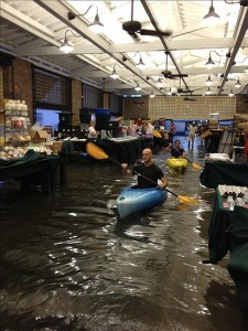 Kayaking-in-the-Flooded-Market